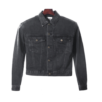 spring new washed denim jacket New jean jacket men Slim Fit Casual  Men Fashion