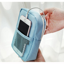 Travel Gadget Organizer Bag Storage Charging Case For Earphone Package Zipper Portable Cable Bags