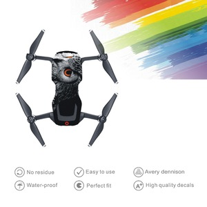 Image 5 - Skin Multi color Waterproof Stickers Decals PVC Cover Protector for DJI Mavic Air Drone Body Spare Parts Accessory