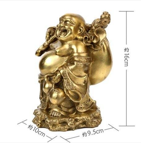 Luz, Feng Shui, Buda de cobre Maitreya, estatua de Buda, adornos, figura, budista, paz, riqueza, artesanías de budismo, estatuilla ~-in Estatuas y esculturas from Hogar y Mascotas    2