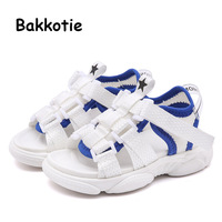 Bakkotie New 2019 Summer Baby Boys Causal Sandals Toddler Fashion Black Breathable Sandals Kids Soft Dress Shoes