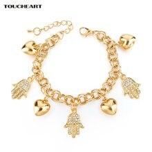Toucheart сердце очаровательные хамса руки браслеты и для женщин