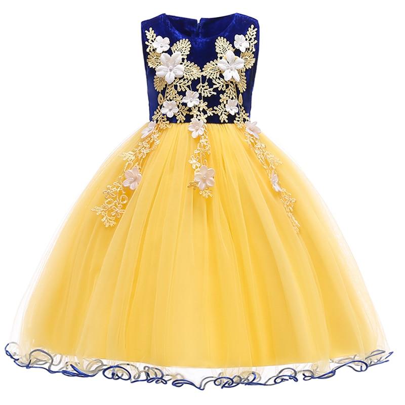 Flower Girls Dress Summer Sleeveless Tulle Ball Gown Dress Kids Child Birthday Wedding Pageant Princess Dress for Photo Shoot