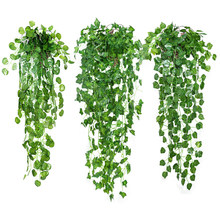 85cm Artificial ivy leaves Vine For Wedding Decoration Fake Plants Green Garland Fake Foliage Leaves Home Decoration(China)