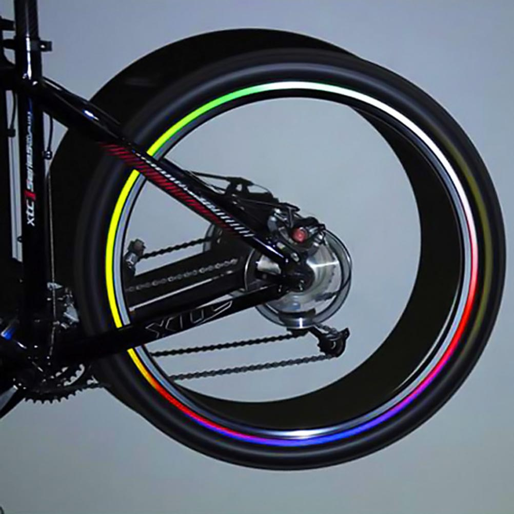 Bicycle Wheel Reflective Stickers Bike Wheel Safe Accessories Cycling Wheel Rim Stickers Reflective Decal Tape