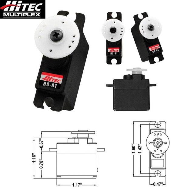 US $20 81 5% OFF|Original Hitec HS 81 12mm Mini Analog Servo 16,6g 2,6/3,1  kgcm 4,8V 6,0V-in Parts & Accessories from Toys & Hobbies on Aliexpress com