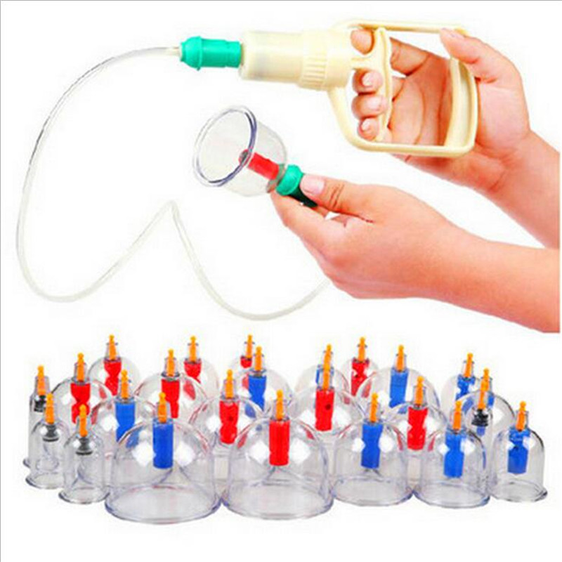 New Vacuum Suction Kangzhu Chinese Boy Cupping Kit 24 Cups Massage Cupping Set free gift 20
