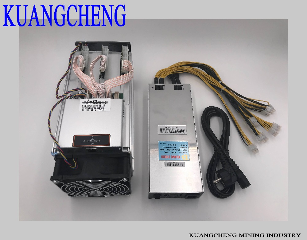 KUANGCHENG Mining Industry  AntMeinr V9 4TH With Power Supply Asic 16nm Btc Miner Bitcoin Mining Machine Fast Delivery