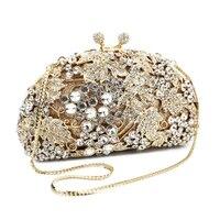 2017 Nova moda feminina do partido senhora Embreagem sacos de noite de diamantes de luxo Europeu carteira bolsa de uvas (8180A-GS)