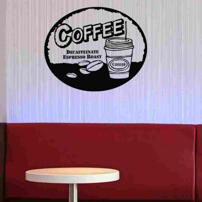 DCTAL Кава Наклейка Їжа Наклейка Кафе - Зовнішні аксесуари для автомобілів