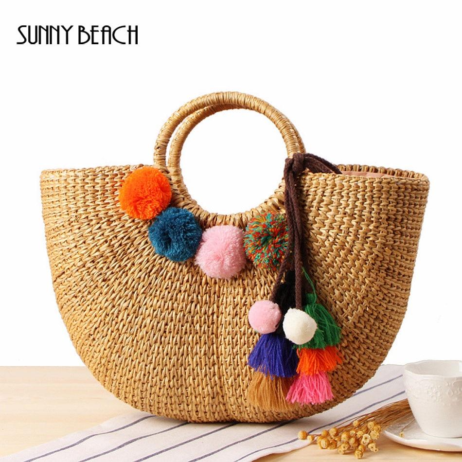 Beach Bag Straw Totes Summer Bags