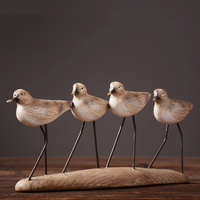 American country retro Home Furnishing study ornaments Nordic style handicraft gifts housewarming seabirds