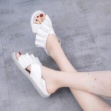 купить Women Slippers Weaving Tassel Flat Sandals Decoration Slipper Beach Slides Sandals Casual Shoes Slip silpper for women по цене 803.83 рублей