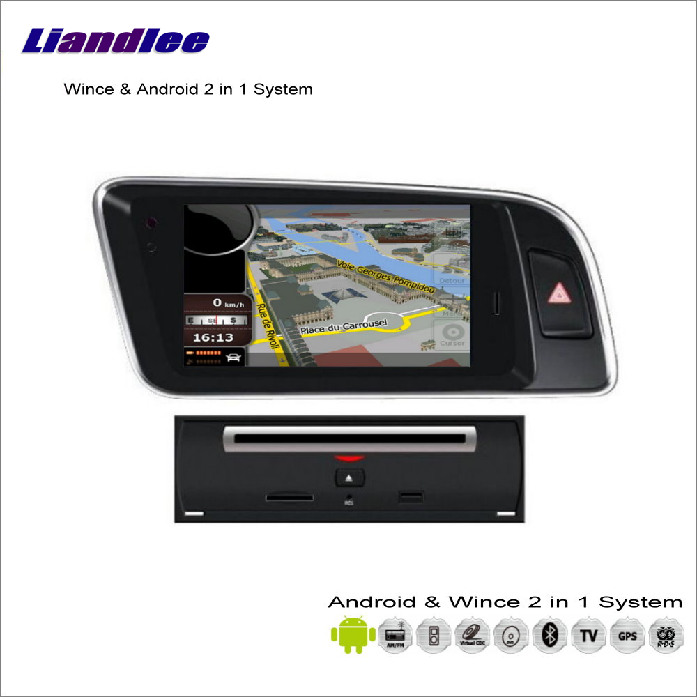 Liandlee For Audi Q5 2009~2013 - Car Radio BT WIFI CD DVD Player GPS NAV NAVI Navigation Audio Video Stereo Advanced S100 System игрушка motormax audi q5 73385