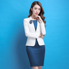 Женский офисный костюм блейзер izicfly официальное белое платье