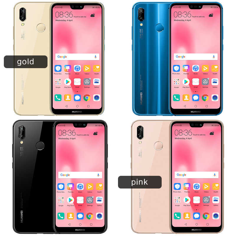 Huawei P20 Lite Global Firmware Nova 3e Dual SiM Smartphone Face ID 5 84''  Full Screen Android 8 0 Glass Body 24MP Front Camera