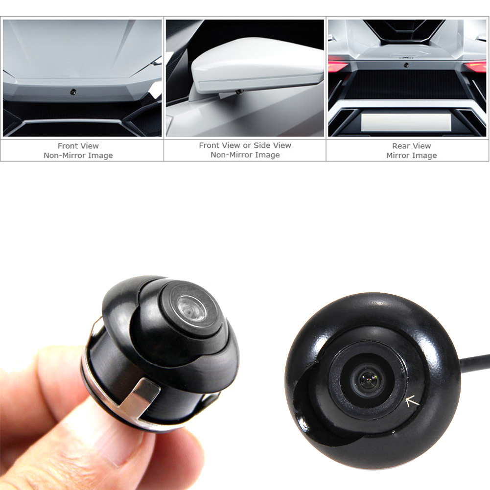 1pcs ccd hd night vision car camera front rear view camera 360 degree rotation universal car. Black Bedroom Furniture Sets. Home Design Ideas