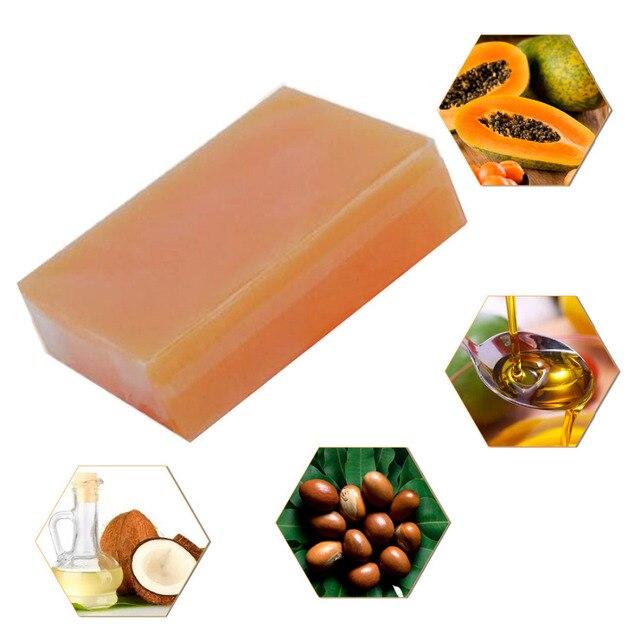 Natural Organic Herbal Green Papaya Mild Handmade Soap Wash Face Deep Clean Moisten Skin Bath Shower Body Soap Makeup Remover