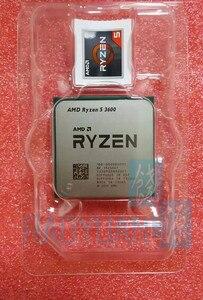 Image 3 - معالج لوحدة المعالجة المركزية AMD Ryzen 5 3600 R5 3600 3.6 GHz ستة النواة اثني عشر خيط 7NM 65W L3 = 32M 100 000000031 مقبس AM4 مع مروحة تبريد