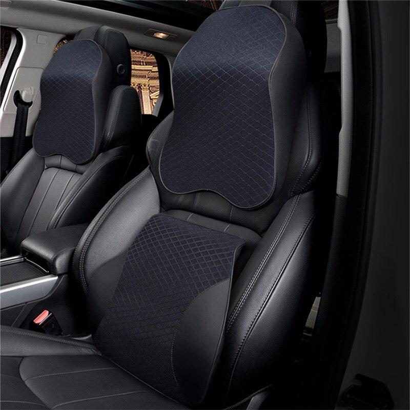 2 Pcs Red U-Shape Memory Cotton Car SUV Seat Neck Pillow Headrest Neck Rest Pads