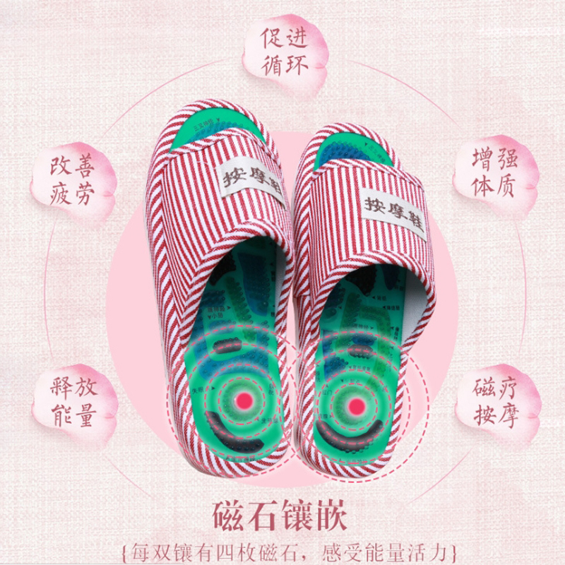 blessfun new Promote Blood Circulation Relaxation Health Foot Care Shoes Pain Relief Reflexology Foot Acupoint Slipper Massage electric antistress therapy rollers shiatsu kneading foot legs arms massager vibrator foot massage machine foot care device hot