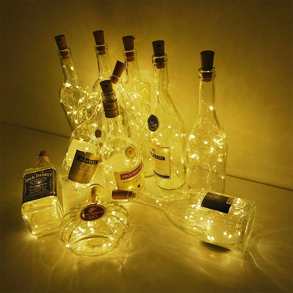 Coquimbo 2M LED Bottle Cork Light For Garland Fairy Party Decoration Glass Bottle Lighting Built In Battery Bottle Lights