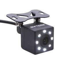 Cámara de visión trasera de coche impermeable IP68, 8 luces LED, HD, visión nocturna, 170 grados, cámara para salpicadero de coche, cámara de estacionamiento Universal, marcha atrás