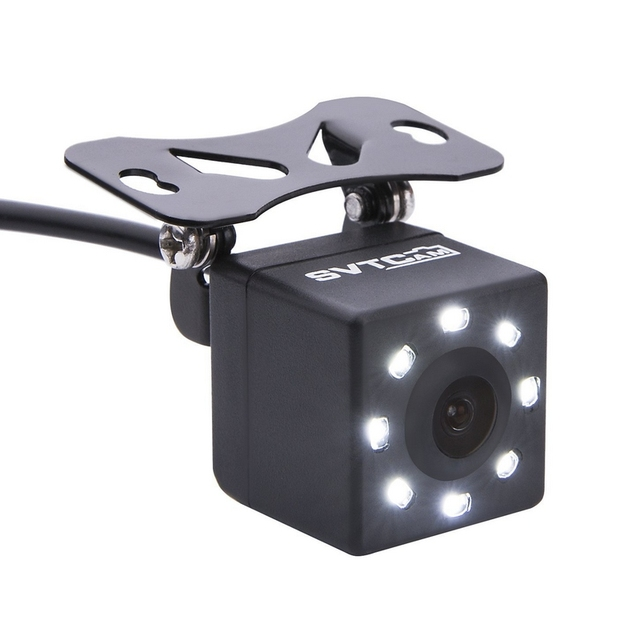 IP68 Impermeabile Auto Videocamera Vista Posteriore 8 luci A LED HD di Visione notturna 170 Gradi dellautomobile del Precipitare Della Macchina Fotografica Universale Parcheggio Retromarcia Della Macchina Fotografica