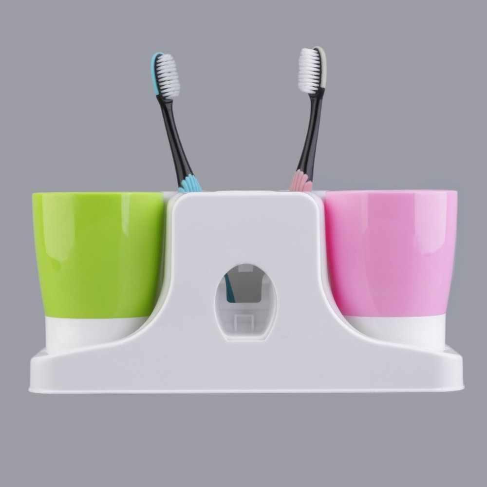 24.2x9.5x11 cm szczoteczka do zębów pasta do zębów uchwyt na kubek stojak zestaw do przechowywania przyssawka uchwyt ścienny hak kubki organizator
