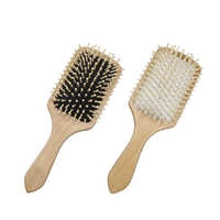 1PC Professional Hair Care Wooden Spa Massage Comb Paddle Cushion Pointed Handle Teeth Hair Brush Antistatic Cushion Comb