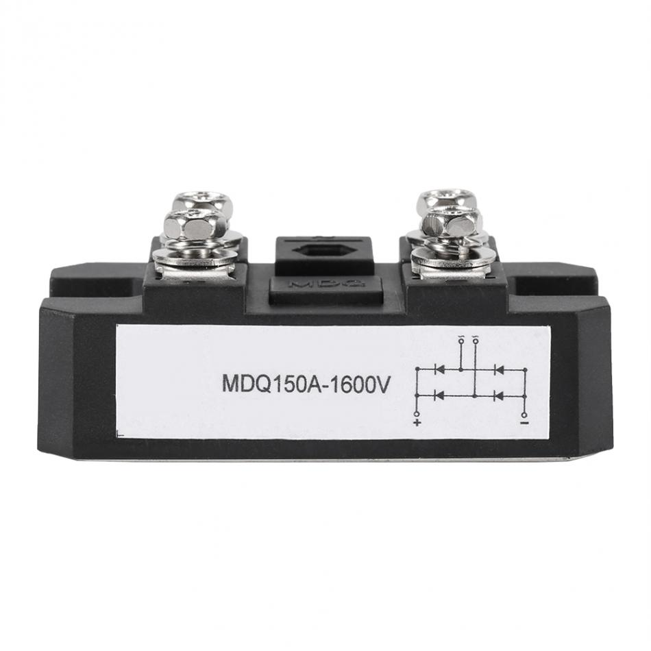 Pont redresseur Haute Puissance 4 Terminaux 150A 1600V Noir Redresseurs en Pont /à diode monophas/é