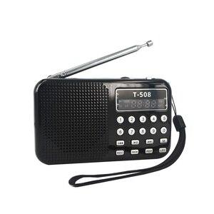 Image 2 - kebidumei 2018 Brand NEW 50mm Internal Magnetic T508 LED Stereo FM Radio Speaker USB TF Card MP3 Music Player