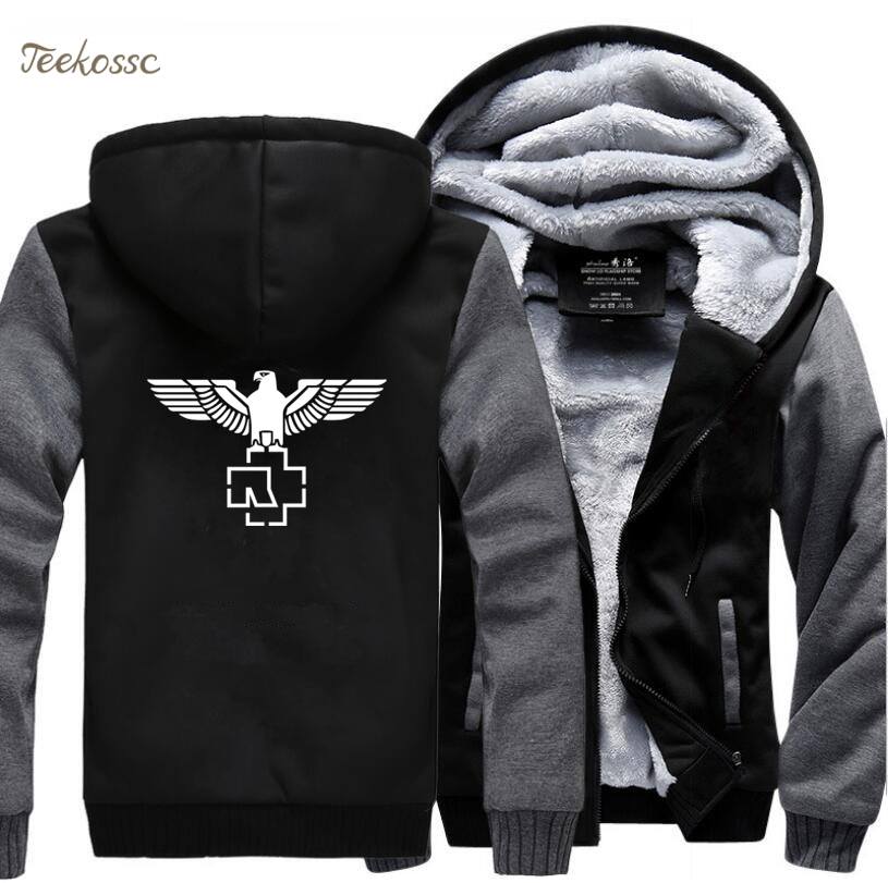 Heavy Metal Music Rock Punk Hip Hop Band Hipster Hooded 2018 Winter Male Sweatshirt Warm Fleece Thick Top Quality Hoodies Men