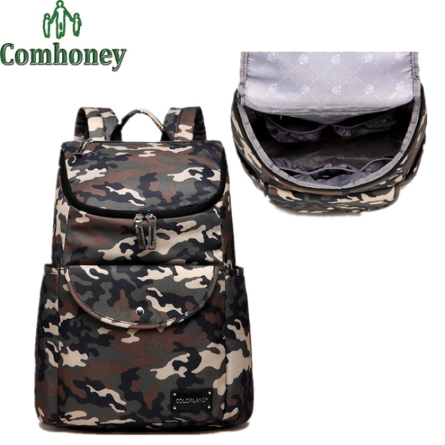 Baby Care Nappy Bags for Stroller Big Capacity Multifunctional Baby Diaper Changing Maternity Bag Camouflage Backpack for Women