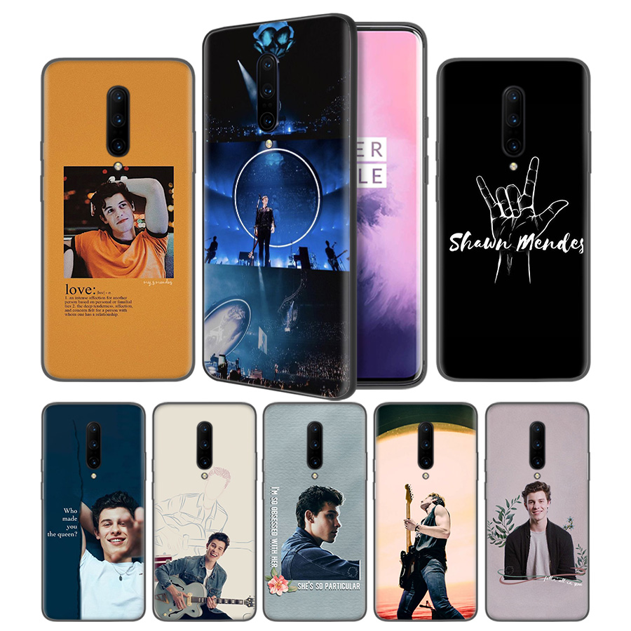 Shawn Mendes The Tour Soft Black Silicone Case Cover for font b OnePlus b font 6