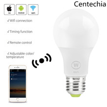 Smart WiFi Bulb White LED 6.5W Light Lamp APP Light Remote Control Work With Alexa, Google Home Assistant and IFTTT