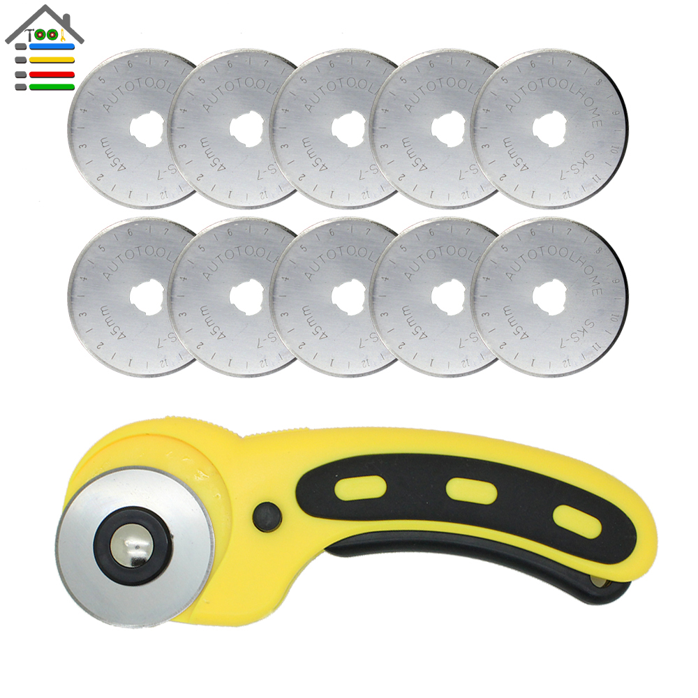 5pcs 28//45mm Rotary Cutter Blade Patchwork Leather Fabric Paper Cut Blade XJ