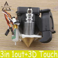 Diamante impressora 3d extrusora hotend v6 dissipador de calor 3 em 1 latão multi cor bico para 1.75/0.4mm reprap kit completo + 3d toque bltouch