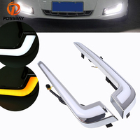 POSSBAY DRL LED Daytime Running Light Turn Signal Lights for Cadillac XTS 2013 2017 Pre facelift White Yellow Bulbs