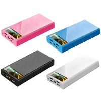 Universal Mobile Phone External Battery Charger Portable Power Bank 20000mah 4 Usb With LED Flash Light