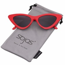 SOJOS 2018 Design cute sexy retro Cat Eye Sunglasses Women triangle vintage small sun glasses red female Shades uv400 SJ2044