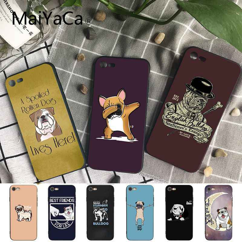 Maiyaca French Bulldog Dog Customer High Quality Phone Case for iPhone 8 7 6 6S Plus X XS MAX 5 5S SE XR 10 Cover