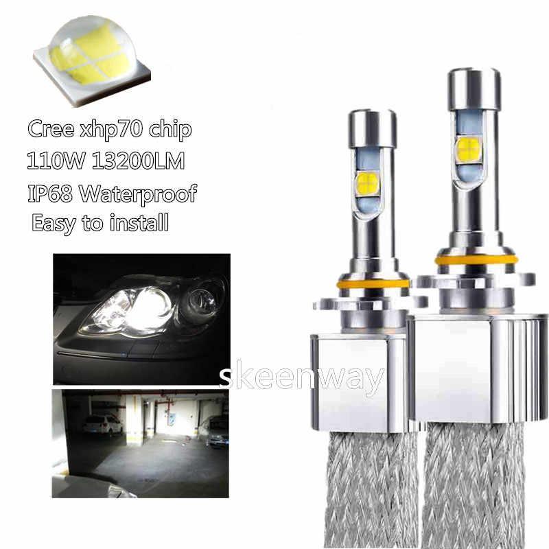 Car LED Headlight H11 Kit xhp70 LED 6000K 55W 6600LM LED H4 H7 H8 H9 HB3 9005 HB4 HIR2 9004/7 H13 car styling fog lamps 12V 24V