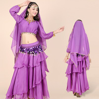 Belly Dance Performance Suit India Dance Festival Stage Performance Skirt Suit Lanterns Long Sleeved Skirt