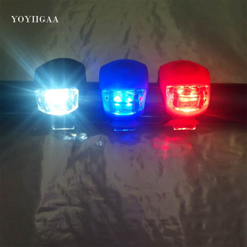 2PCS LED Bicycle Bike Cycling Head Front Rear Wheel Safety Light Lamp  HOT