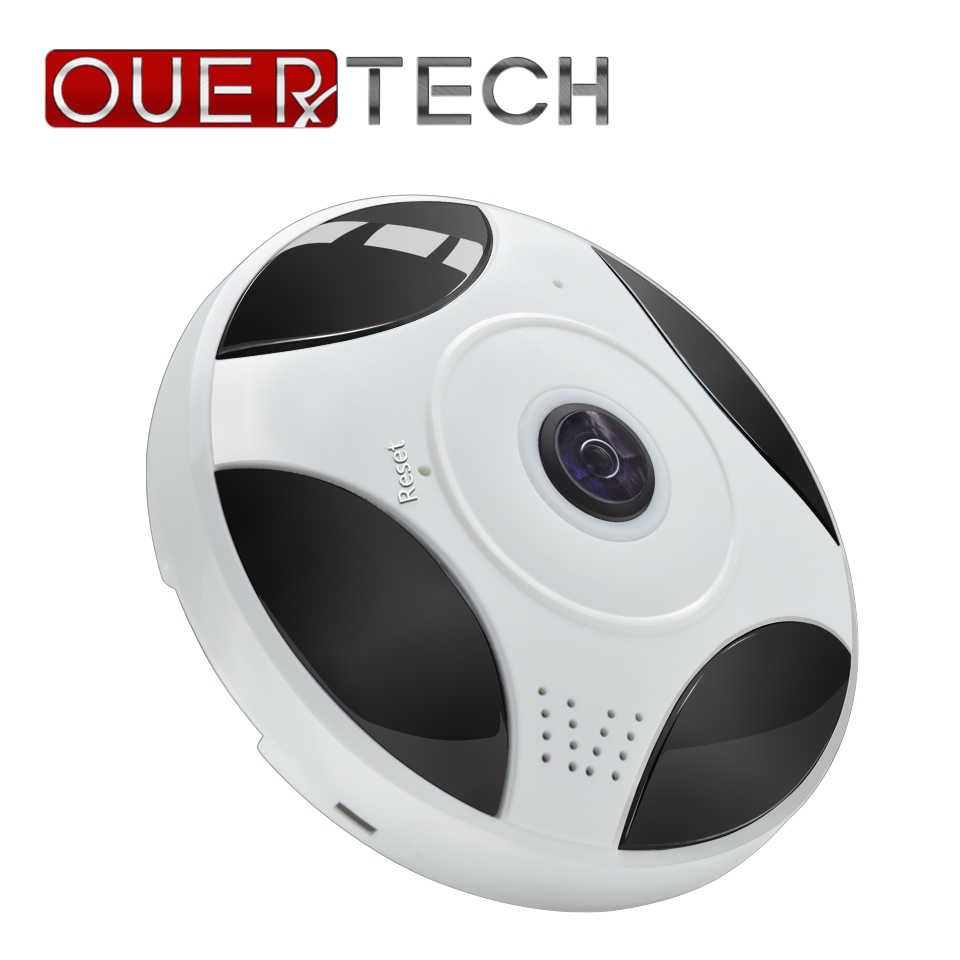 OUERTECH 360 Camera Full view Two way audio WIFI Panoramic vr Infrared 1.3MP Fisheye Wireless Smart IP Camera   app ICSEE home