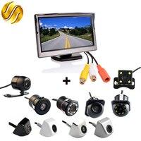 2In1 Car Parking System Kit 5 Desktop Bracket TFT LCD Color Monitor 5 Inch HD Display