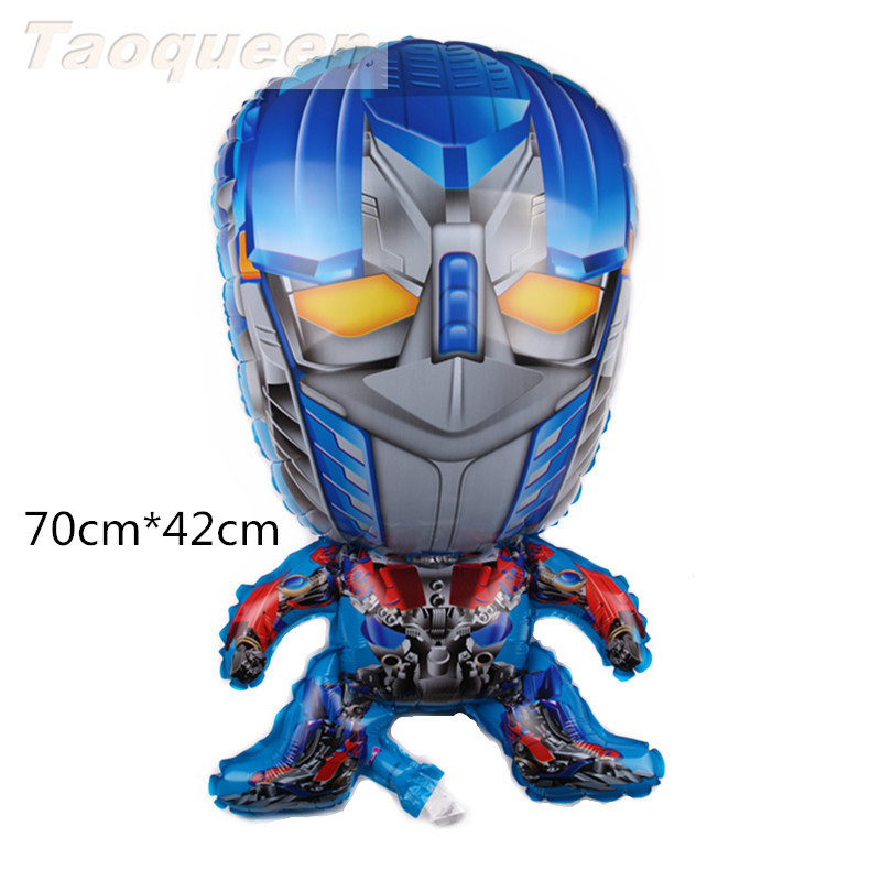 Cartoon Hat  Robot  Balloon Decorations Birthday Party Hero Kids Balons Robot Truck Cars Game Babys Toys Hat