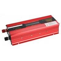 1500W Power Inverter Installation Kit Auto Car Vehicle Power Supply Red