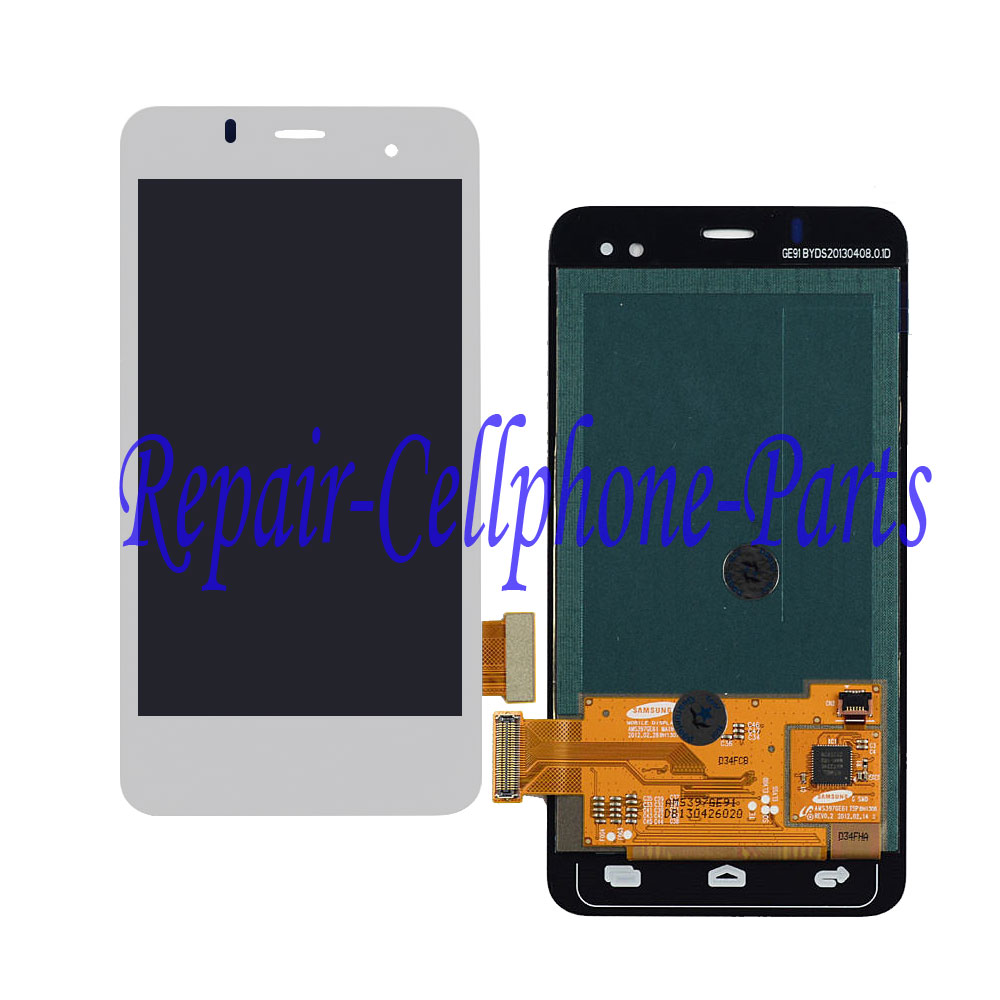 White Full LCD DIsplay + Touch Screen Digitizer Assembly For <font><b>Alcatel</b></font> One Touch Star OT6010 OT6010D <font><b>6010</b></font> 6010D Tracking Number image